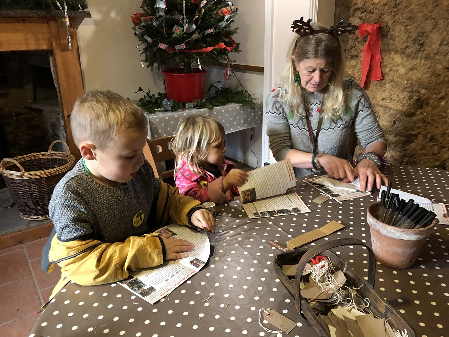 Christmas crafts at Heligan