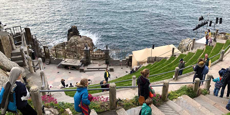 Squashbox production for children at the Minack Theatre