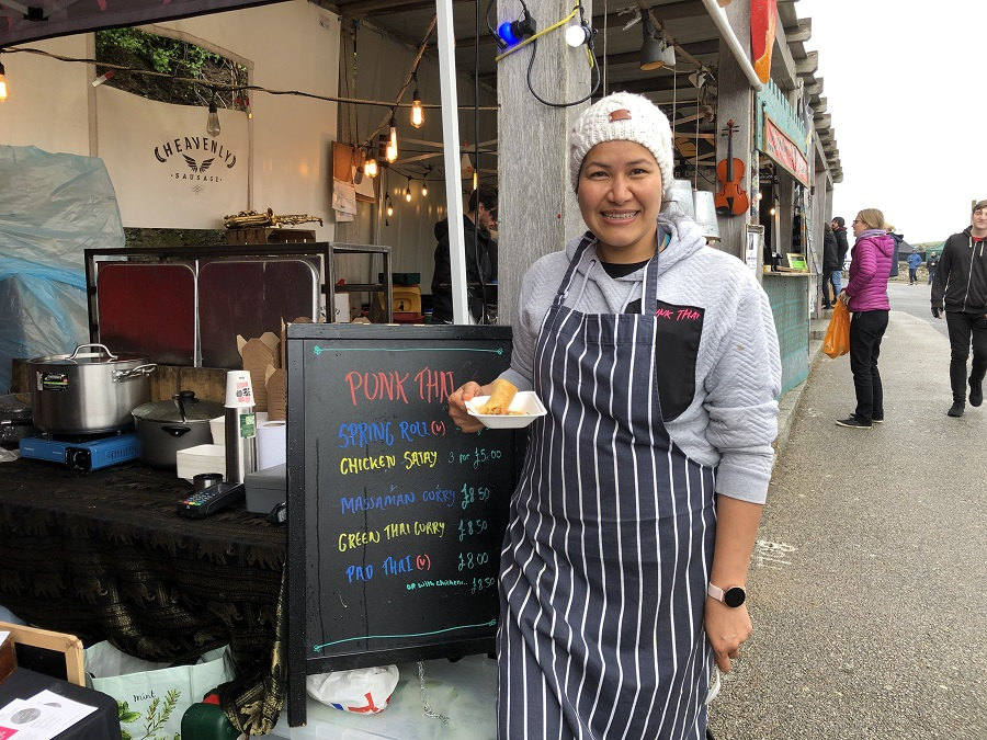 Punk Thai strret food at Porthleven Food Festival