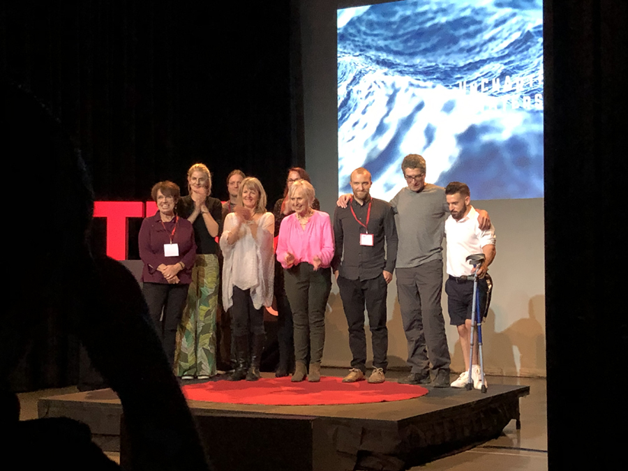 TED Talk. Pat Smith AKA Action Nan with other speakers from the event