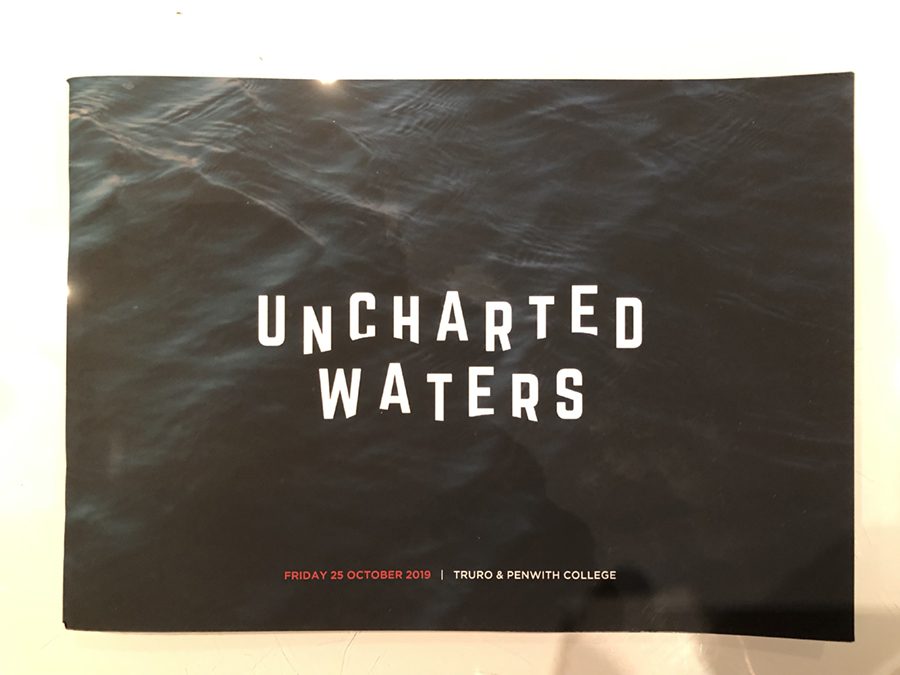 Unchartered Waters the theme of TEDXTruro 2019